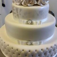 bryllupskake, hvit
